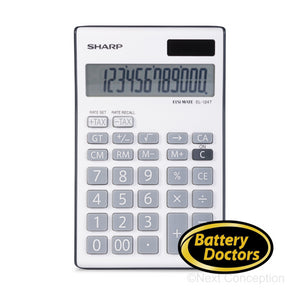 EL124TBGY SHARP 12 DIGIT CALCULATOR, GT FUNCTION, 4 MEMORY B