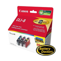 0621B014 Canon CLI-8 C,M,Y Ink Value Pack w. 50SH Photo Pape