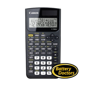 2467C002 Canon F-730SX Bk Scientific Calculator 163 Fcts