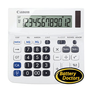 9607B001 Canon WS-220TSG White 12-digit Display