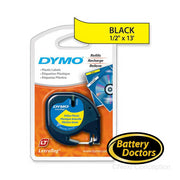 "Dymo LetraTag Label Maker Tape Cartridge 1/2"" Width x 13 ft"