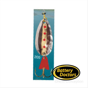 EGB3205 GOLD BACKING SPOON 3/8 OZ Fishing Lure EGB Spoon