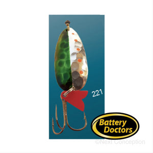 EGB3221 GOLD BACKING SPOON 3/8 OZ Fishing Lure EGB Spoon