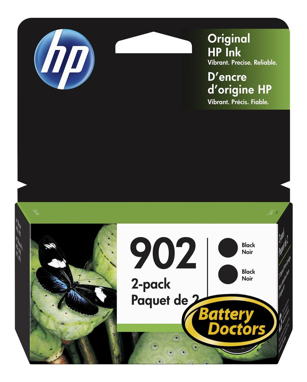 3YN96AN#140 HP #902 Black Original Ink 2Pack