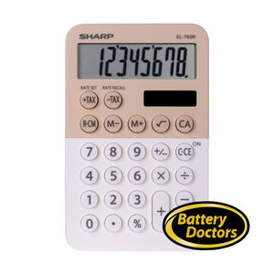 EL760RBLA SHARP CALCULATOR XL-8 DIGIT DISPLAY