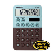 EL760RBMT SHARP CALCULATOR XL-8 DIGIT DISPLAY