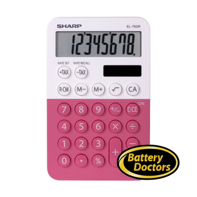 EL760RBPK SHARP CALCULATOR XL-8 DIGIT DISPLAY
