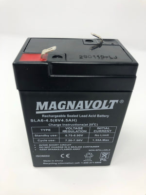 Magnavolt 6V/4.5AH Sealed Lead Acid Battery