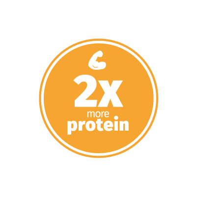 Crickets have 2 times more protein compared to cows design icon