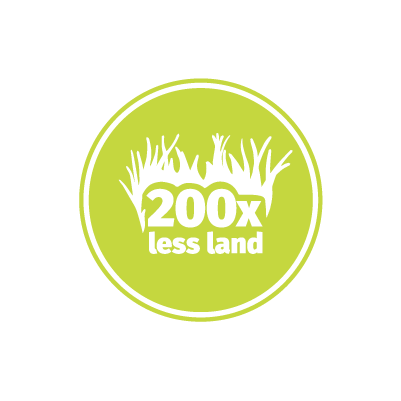 Crickets Use 200x Less Land than Cows Design Icon