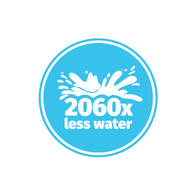 crickets us 2060 times less water than cows Design Icon