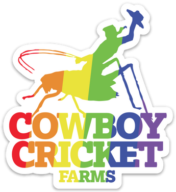 LGBT Pride Cowboy Cricket Sticker
