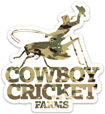 Army Cowboy Cricket Sticker