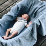 Cotton Muslin Swaddle Blanket I Blue Star Collection