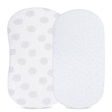 Bassinet Sheet Set  - Grey Dottie Design