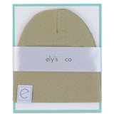 Jersey Cotton Beanie Hat - Khaki