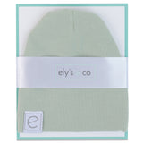 Jersey Cotton Beanie Hat - Sage