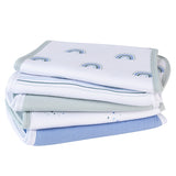 Reversible Burp Cloths I Blue Rainbow Collection