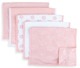Waterproof Reversible Burp Cloths I Pink Combo