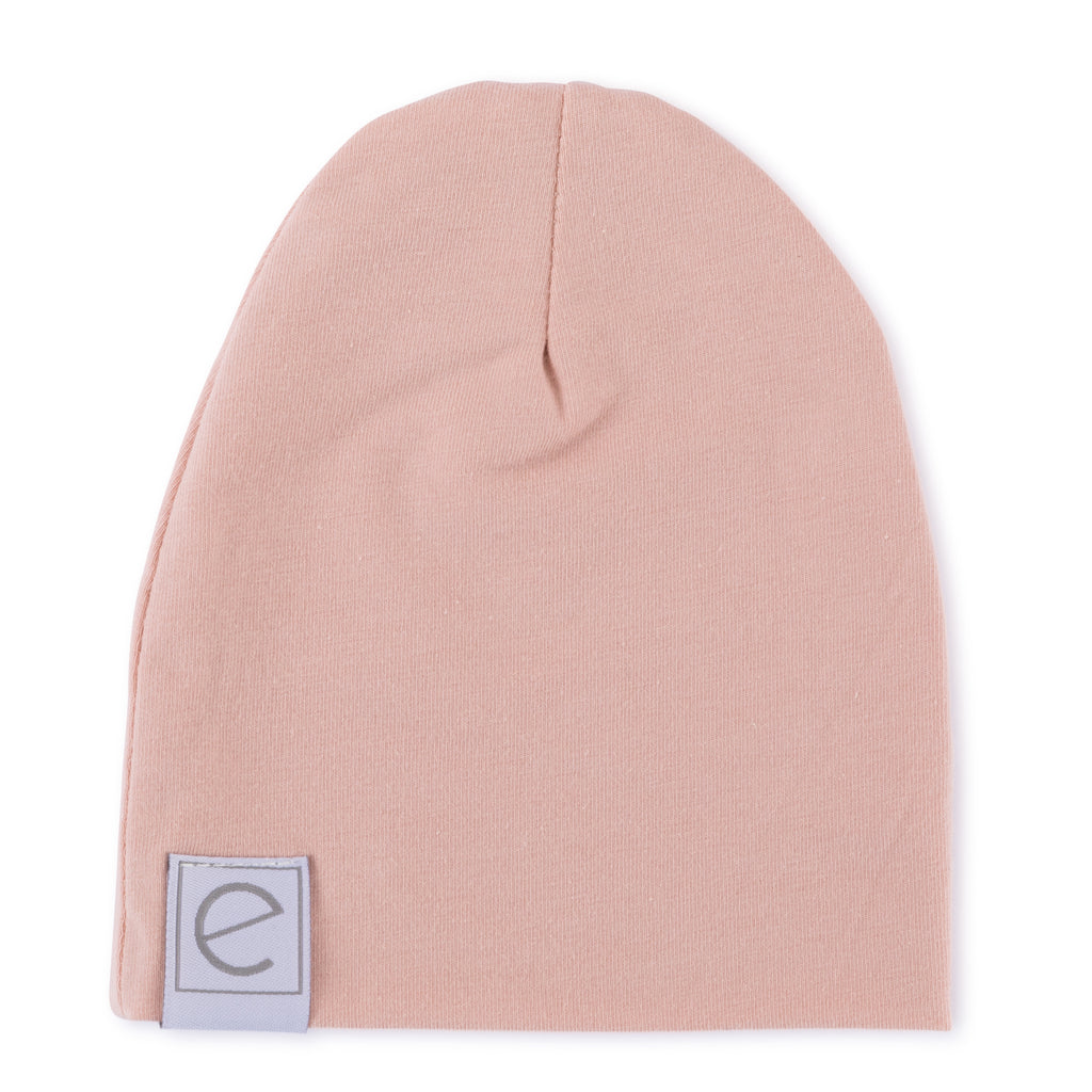 Jersey Cotton Beanie Hat - Pink