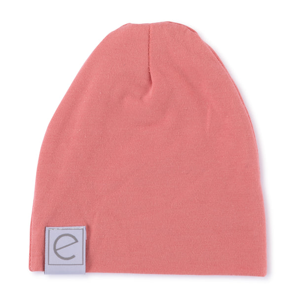 Jersey Cotton Beanie Hat - Rose Fuchsia