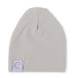 2 Pack Jersey Cotton Beanie Hat Set - Mauve Lavender & Grey