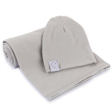 Jersey Cotton Beanie Hat - Grey