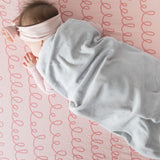 Crib Sheet Set - Pink Squiggles