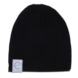 2 Pack Jersey Cotton Beanie Hat Set - Tan & Black