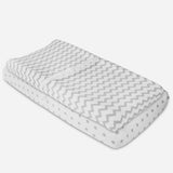 Waterproof Changing Pad Cover / Cradle Sheet Set I Grey Chevron and Polka Dot