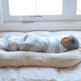 Cotton Muslin Swaddle Blanket I Blue Rainbow Collection