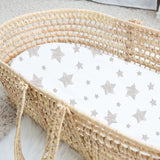 Basket Sheet Set I Tan Drawn Star