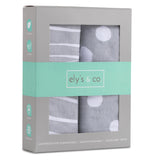 Bassinet Sheet Set I Grey and White Abstract