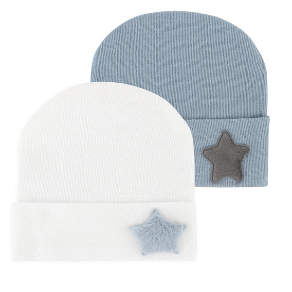 Newborn Hospital Hats - Blue & White