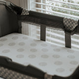 Pack N Play I Portable Crib Sheet Set - Grey Dottie Design