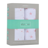 Crib Sheet Set I Mauve Pink Stars