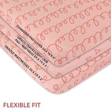 Changing Pad Cover Set | Cradle Sheet Set - Pink Squiggles