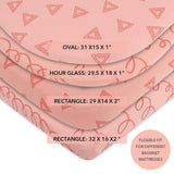 Bassinet Sheet Set - Pink Squiggles