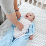 Wearable Blanket / Baby Sleep Bag I Blue Bunnies