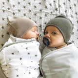Adjustable Swaddle Blankets I Grey Stars