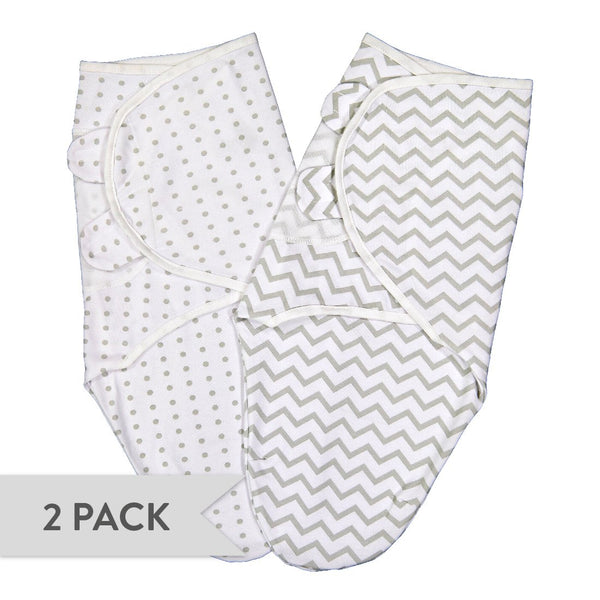 Adjustable Swaddle Blankets I Grey Chevron