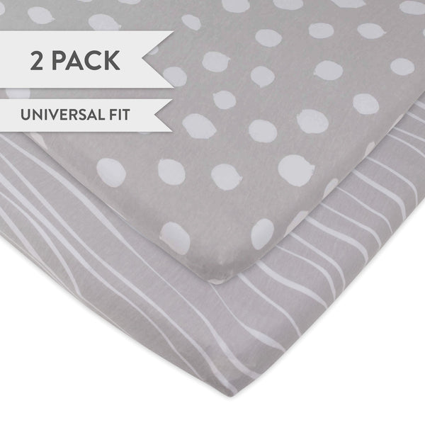 Changing Pad Cover Cradle Sheet Set Grey And White