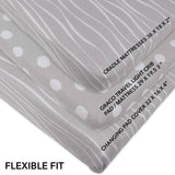 Changing Pad Cover / Cradle Sheet Set | Grey and White Abstract