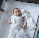 Baby Wearable Blanket / Sleep Bag I Blue Bunnies