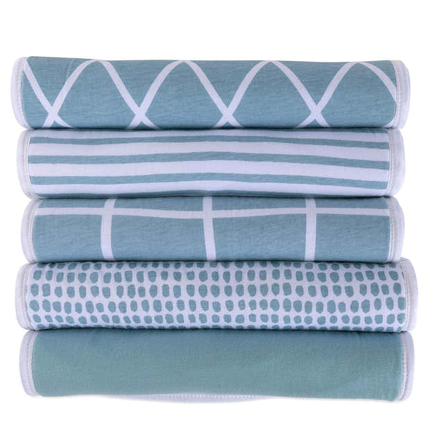 Reversible Burp Cloths I Teal Collection 1