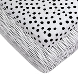 Crib Sheet Set | Black and White Abstract