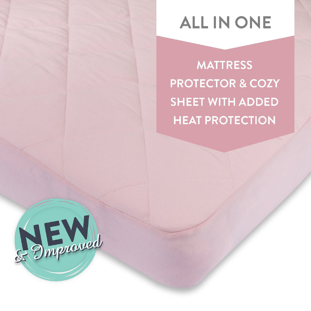 Quilted Waterproof Pack n Play / Portable Crib Sheet I Pink
