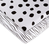 Bassinet Sheet Set I Black and White Abstract