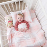Fitted Crib Sheet 100% Premium Jersey Cotton 1 Pack Gingham Pink for Baby Girl
