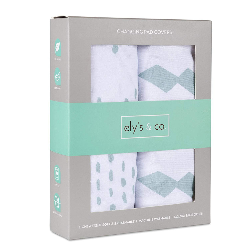 Changing Pad Cover / Cradle Sheet Set I Sage Diamond